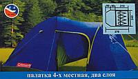 Палатка туристическая COLEMAN 1009 4-х местная (Польша)