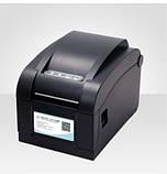 Принтер етикеток, термопринтер штрих кодів Xprinter XP-350B 82mm, фото 4