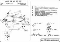 Защита картера двигателя, КПП Audi A6 C6 2004-2009