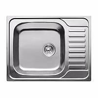 Мойка кухонная 0,8мм нержавейка с комплектом ULA-580*480 врезная (Decor-Ребристая) (HB 7201 ZS)