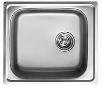 Мойка кухонная 0,8мм нержавейка с комплектом ULA-500*470 врезная (Decor-Ребристая) (HB 6110 ZS)