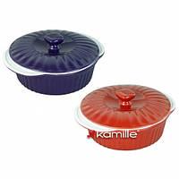 Керамическая кастрюля для запекания 2.5 л Kamille KM 6101
