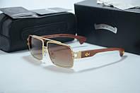 Солнцезащитные очки Chrome Hearts Hummer gold, фото 1