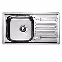 Мойка кухонная 0,8мм нержавейка с комплектом ULA-780*430 врезная (Satin-Матовая) (HB 7204 ZS)