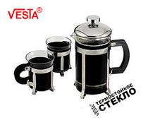 Набор френч-пресс+2 чашки Vesta VS-16