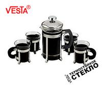 Набор френч-пресс+4 чашки Vesta VS-18
