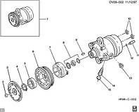 Сальник компрессора кондиционера OPEL AGILA-A ASTRA-G/-H CORSA-B/-C COMBO MERIVA-A OMEGA-B SIGNUM TIGRA-A/-B  VECTRA-C ZAFIRA-A/-B