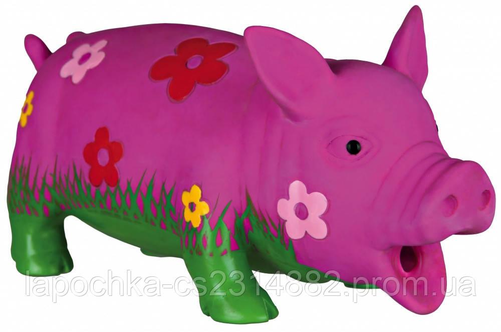 Игрушка для собак Trixie Поросёнок с пищалкой, латекс 20 см