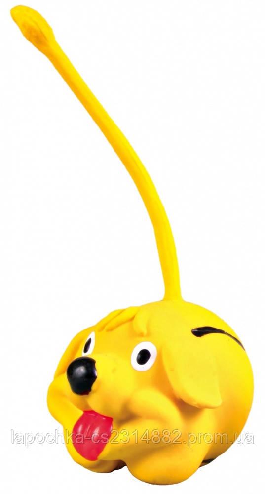 Игрушка для собак Trixie круглая с хвостом, латекс 6 см ( цвета в ассортименте)
