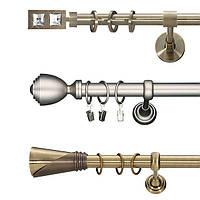 Карниз одинарный трубчатый Ø25 мм 300 см