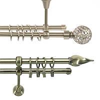 Карниз двойной трубчатый Ø16 мм