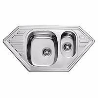 Мойка кухонная 0,8мм нержавейка с комплектом ULA-1000*500 врезная (Decor-Ребристая) (HB 7802 ZS)