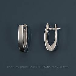 Серебряные серьги без камней Стелла