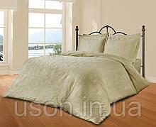 Комплект постельного белья из жаккарда le vele евро despina-cream