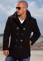 Пальто мужское утепленное на синтепоне и пуговицах P1315