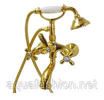 Золотой смеситель для ванны FIORE (Италия) MARGOT