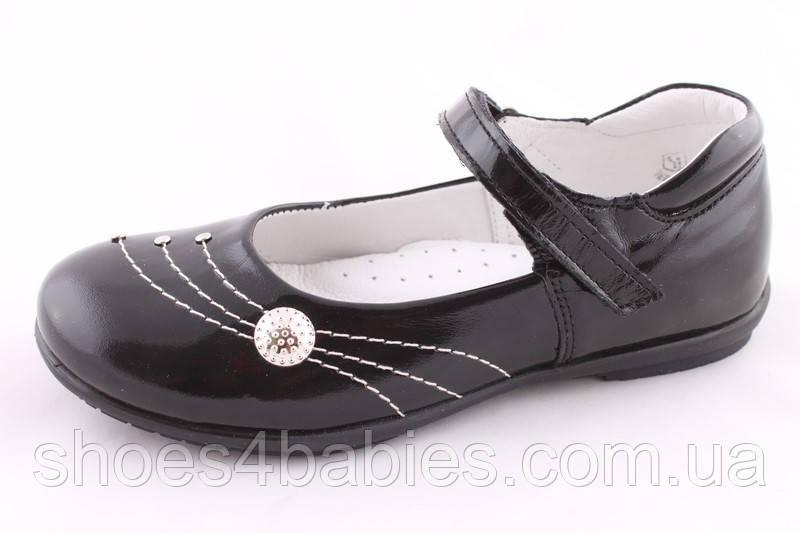 Туфли школьные берегиня для девочки черные р. 27, 29, 30