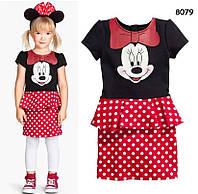 Платье Minnie Mouse для девочки. 80, 120 см