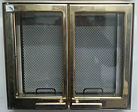 9106U дверца каминная двуxстворчатая позолота (445x380), фото 1