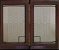 9112U дверца каминная двухстворчатая медь (475x475), фото 1