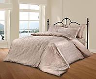 Комплект постельного белья из жаккарда le vele евро despina-pudra