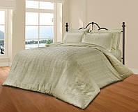 Комплект постельного белья из жаккарда le vele евро royal-brown