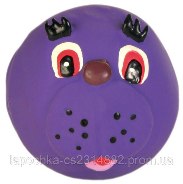 Игрушка для собак Trixie Faces с пищалкой, латекс Ø 6 см (игрушка в ассортименте)