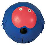 Игрушка для собак Trixie Faces с пищалкой, латекс Ø 6 см (игрушка в ассортименте), фото 5