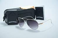 Солнцезащитные очки Chrome Hearts  черные с серебром, фото 1