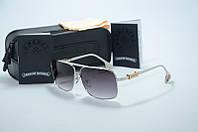Солнцезащитные очки Chrome Hearts  черные с серебром