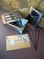 Коптильня бытовая из нержавеющей стали, домашняя переносная коптилка нержавейка, фото 1