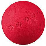 Игрушка для собак Trixie Мяч с пищалкой, резина (цвета в ассортименте), фото 2