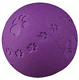 Игрушка для собак Trixie Мяч с пищалкой, резина (цвета в ассортименте), фото 3