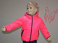 Яркая куртка на девочку № 4077 (рост: 98,104,110,116)