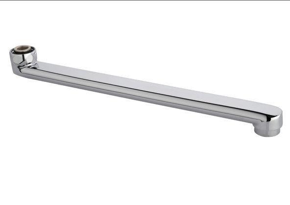 Гусак смесителя плоский прямой 200 мм на ванную