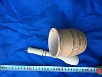 Набор кадушка+толкушка деревяная стука бук