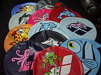 Шапка для плавания детская силикон Арена  акула серая