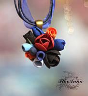 """""""Таинственный сад"""" кулон/подвеска ручной работы с цветами., фото 1"""