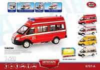 """Автобус  """"Автопарк"""" PLAY SMART пожарка инерц.муз.свет"""