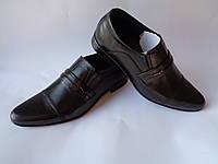 """Черные мужские кожаные туфли украинской фабрики """"Solo man"""""""