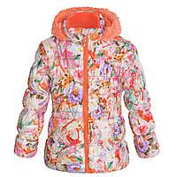 Куртка зимняя Big Chill Цветы для девочки рост 146/152, возраст 14/16