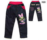 Теплые джинсы Minnie Mouse для девочки. 90 см