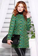 Женское пальто короткое кашемировое зеленого цвета