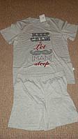Хлопковая мужская пижама серого цвета Dobranocka Польша