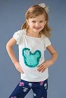 """Детская футболка """"Микки"""" для девочки (мятный)"""