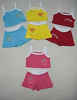 Летний костюмчик с интерлока для девочки от 3лет до 12-7 лет по оптовым ценам