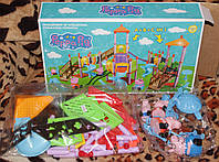 Игровой набор Peppa Pig (Свинка Пеппа) - Детская площадка для Пеппы и друзей с фигурками героев.