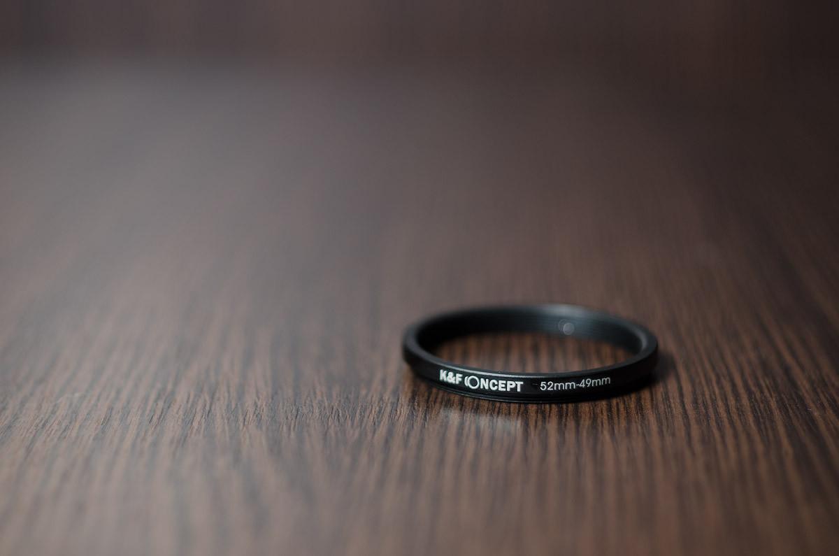 Переходное кольцо, понижающее (STEP DOWN) 52мм - 49мм  (K&F CONCEPT)