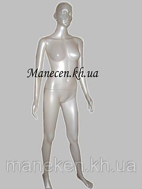 Манекен женский в полный рост с выдувной головой Сиваян терракот, фото 2