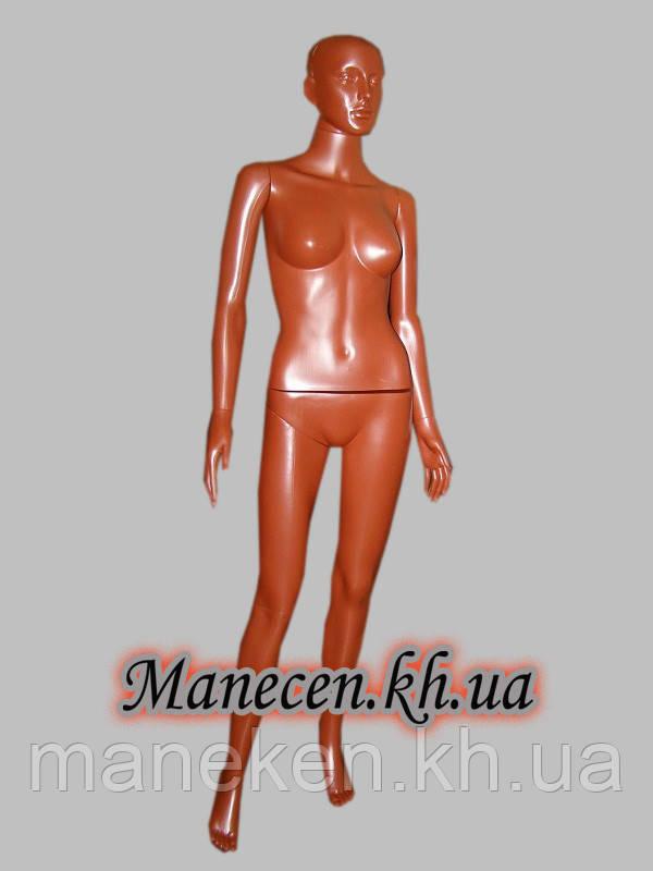Манекен женский в полный рост с выдувной головой Сиваян терракот